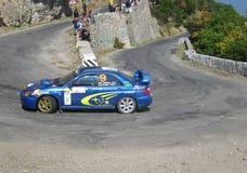 автомобили покрасили multi основное ралли yalta Стоковое Изображение RF