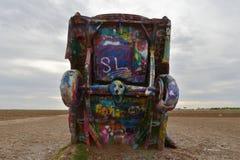 Автомобили похороненные на ранчо Кадиллака, Амарилло, Техасе Стоковые Изображения