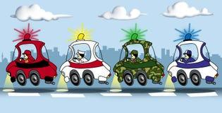 автомобили предпосылки цветастые Бесплатная Иллюстрация