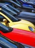 автомобили припарковали Стоковое Изображение