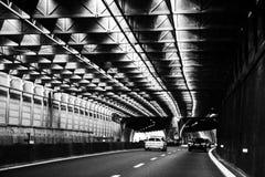Автомобили проходя тоннель от Cinque Terre Стоковое фото RF