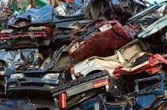 автомобили складывают использовано Стоковое Изображение