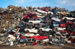 автомобили складывают использовано Стоковое Изображение RF