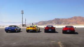 Автомобили спорт, скоростная дорога квартир соли Bonneville международная, Юта стоковые изображения rf