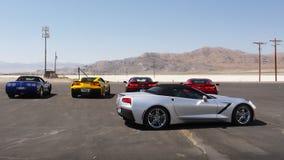 Автомобили спорт, скоростная дорога квартир соли Bonneville международная, Юта стоковое изображение rf