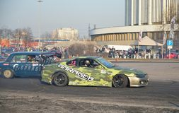 Автомобили спорт Garage-13 на спринте ралли на CCM на Worl стоковые фотографии rf