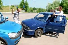 автомобили 2 аварии Стоковые Изображения