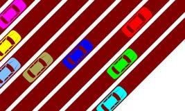 автомобильная гонка иллюстрация вектора