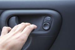 Автомобильная дверь ручки стоковое фото