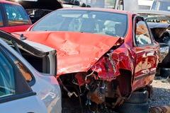 Автомобильная катастрофа где повреждение было огромно стоковое фото rf