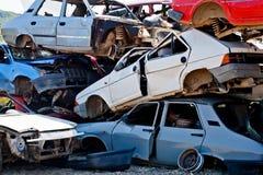 Автомобильная катастрофа где повреждение было огромно стоковые фотографии rf