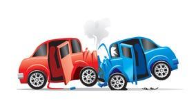 Автомобильная катастрофа   иллюстрация вектора