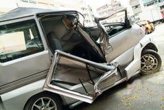 автомобильная катастрофа стоковые изображения rf