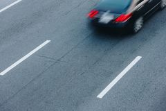 Автомобильное движение на часе пик Движение нерезкости Стоковые Фото
