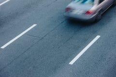 Автомобильное движение на часе пик Движение нерезкости Стоковое Фото