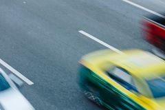 Автомобильное движение на часе пик Движение нерезкости Стоковое Изображение RF