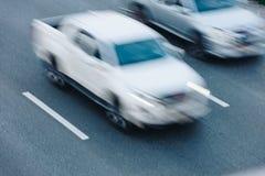 Автомобильное движение на часе пик Движение нерезкости Стоковая Фотография