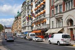 Автомобильное движение Стокгольма Стоковое фото RF