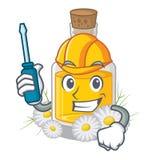 Автомобильное масло стоцвета помещенное в бутылке мультфильма бесплатная иллюстрация