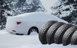 Автомобильн смещение в лес Стоковые Фото