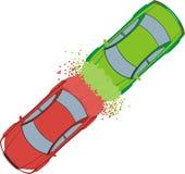 автомобиль аварии иллюстрация штока