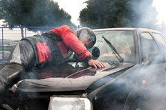 автомобиль аварии Стоковое Фото