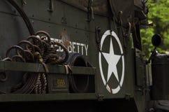 Автомобиль армии США военный исторический стоковая фотография rf