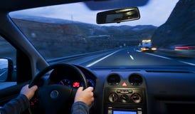 автомобиль внутри взгляда Стоковые Изображения RF