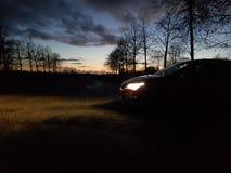 Автомобиль в сцене Стоковые Изображения