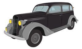 Автомобиль гангстера ретро Классицистический автомобиль сбор винограда sacramento Уругвая del colonia автомобиля Стоковое фото RF