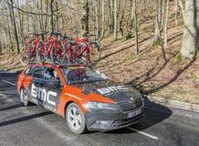Автомобиль гоночной команды BMC - Париж-славное 2017 стоковая фотография