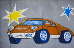 Автомобиль граффити стоковое фото rf
