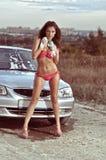 Автомобиль девушки моя Стоковые Фото