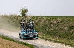 Автомобиль жизненно важных гостиниц Концепци-BB объединяется в команду - Париж-Roubaix 2019 стоковая фотография rf