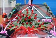 Автомобиль замужества Стоковая Фотография