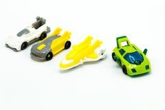 Автомобиль игрушки на белой доске Стоковая Фотография RF