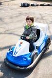 Автомобиль игрушки участвуя в гонке Стоковое Изображение