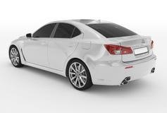 Автомобиль изолированный на бело- белой краске, подкрашиванном стекле - назад-левом si иллюстрация штока
