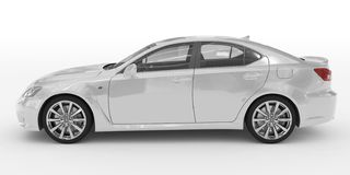 Автомобиль изолированный на бело- белой краске, прозрачном стекле - левом взгляде со стороны бесплатная иллюстрация