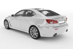 Автомобиль изолированный на бело- белой краске, прозрачном стекле - назад-le иллюстрация вектора