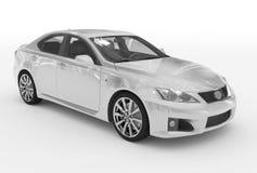 Автомобиль изолированный на бело- белой краске, прозрачном стекле - переднем-r иллюстрация вектора