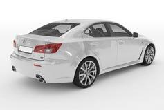 Автомобиль изолированный на бело- белой краске, прозрачном стекле - back-ri бесплатная иллюстрация