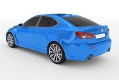 Автомобиль изолированный на бело- голубой краске, подкрашиванном стекле - назад-левом sid иллюстрация вектора