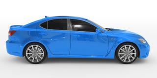 Автомобиль изолированный на бело- голубой краске, подкрашиванном стекле - правильной позиции VI иллюстрация штока
