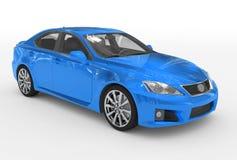 Автомобиль изолированный на бело- голубой краске, прозрачном стекле - переднем-ri иллюстрация штока