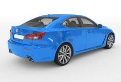 Автомобиль изолированный на бело- голубой краске, прозрачном стекле - назад-снаряжении бесплатная иллюстрация