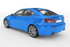 Автомобиль изолированный на бело- голубой краске, прозрачном стекле - back-lef бесплатная иллюстрация