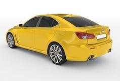 Автомобиль изолированный на бело- желтой краске, подкрашиванном стекле - назад-левом s иллюстрация вектора