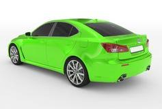 Автомобиль изолированный на бело- зеленой краске, подкрашиванном стекле - назад-левом si бесплатная иллюстрация