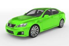 Автомобиль изолированный на бело- зеленой краске, прозрачном стекле - переднем-l бесплатная иллюстрация